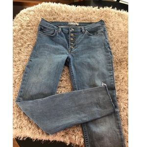 Free People Button Fly Skinny Jeans Size 28
